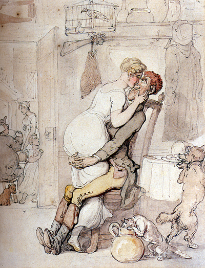 Rowlandson_thomas_a_kiss_in_the_kit